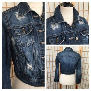 Decree Distressed Jean Jacket SZ M (Junior)